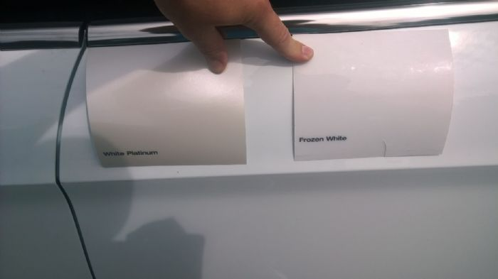 Ford Ice White Pearlescent Paint