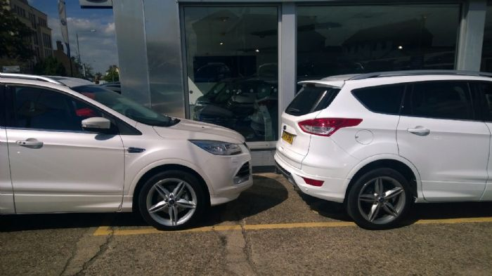 My Car On The Right In Supposed Platinum White And The Dealers Platinum White Kuga On The Left